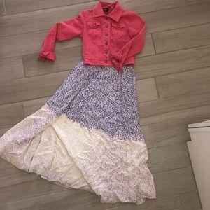 Urban renewal maxi floral purple white full skirt